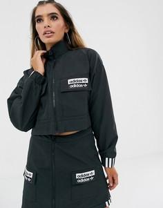 Черная укороченная куртка adidas Originals RYV-Черный