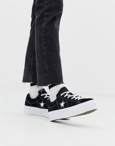 Черные кроссовки на платформе Converse one star-Черный