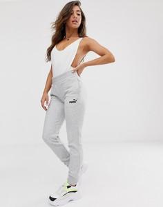 Серые трикотажные штаны Puma Essentials-Серый