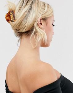 Заколка для волос черепаховой расцветки Glamorous-Коричневый