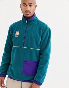 Фиолетовая флисовая куртка adidas Originals adiplore-Фиолетовый