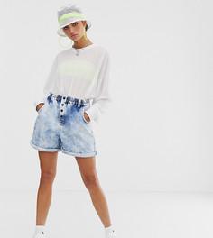 Выбеленные шорты с эластичным поясом COLLUSION-Синий