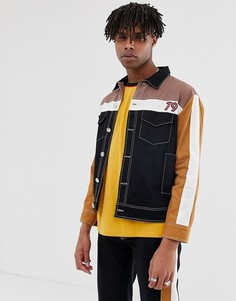 Черная куртка с полосками из комплекта Sacred Hawk-Синий