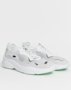 Белые кроссовки с прозрачным верхом Bershka-Белый