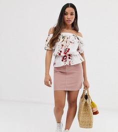 Вельветовая мини-юбка Vero Moda Petite-Желтый