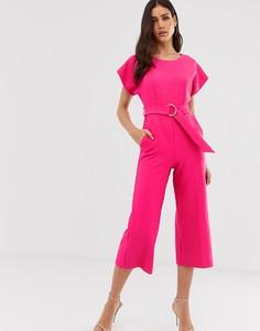 Укороченный комбинезон-кимоно Closet-Розовый