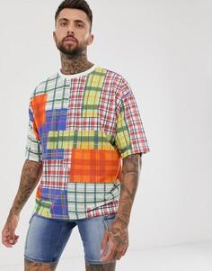 Фактурная oversize-футболка в клетку ASOS DESIGN-Мульти