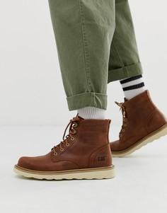 Коричневые кожаные походные ботинки Caterpillar - chronicle-Коричневый