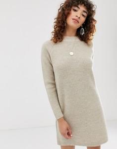 Платье-джемпер с длинными рукавами Only-Серый