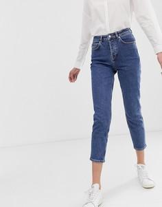 Джинсы в винтажном стиле Selected Femme-Синий