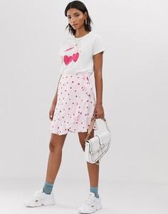 Мини-юбка в сердечко с запахом Fabienne Chapot-Мульти