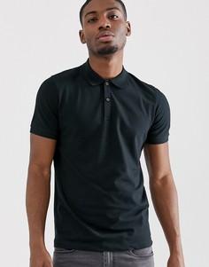 Черная футболка-поло Selected Homme-Черный