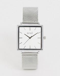 Женские часы с квадратным циферблатом и сетчатым браслетом Anaii-Серебряный