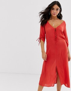 Пляжное платье с завязкой спереди Anmol-Красный