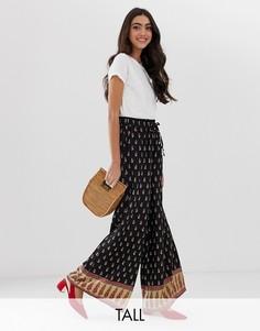 Фестивальные брюки с широкими штанинами с принтом Y.A.S Tall-Мульти