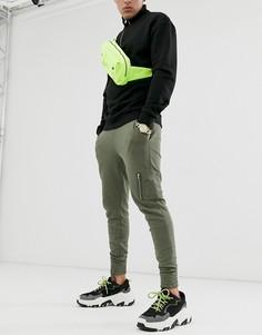 Джоггеры скинни цвета хаки ASOS DESIGN MA1-Зеленый