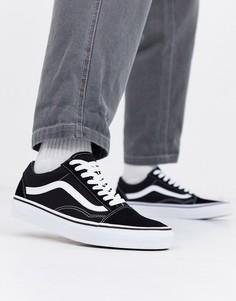 Черно-белые кроссовки Vans Old Skool-Черный