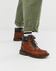 Коричневые непромокаемые ботинки Caterpillar-Коричневый