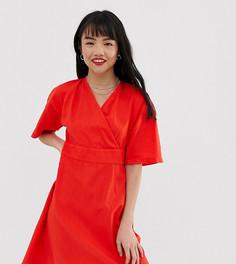 Платье с v-образным вырезом Vero Moda Petite-Красный