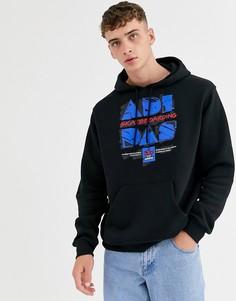Черный худи с логотипом adidas Skateboarding