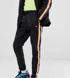 Черные спортивные брюки с разноцветным кантом Ellesse Santi эксклюзивно для ASOS-Черный