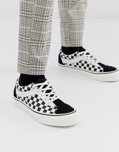 Черные кроссовки с принтом в шахматную клетку Vans - Bold-Черный