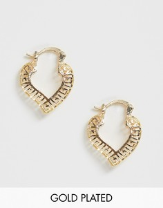 Золотистые серьги-кольца Image Gang-Золотой