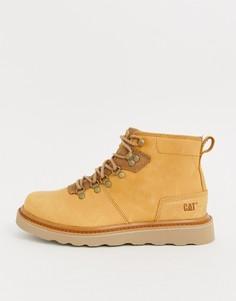 Светло-коричневые кожаные ботинки в походном стиле Caterpillar - shaw-Светло-коричневый