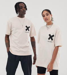Белая футболка с логотипом COLLUSION Unisex-Белый