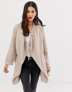 Драпированная куртка со шнурком French Connection - Ellesmere-Бежевый