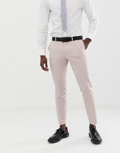 Розовые свадебные облегающие брюки Burton Menswear-Розовый