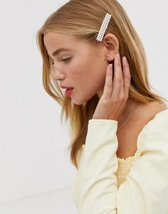 Заколка для волос с отделкой искусственным жемчугом Ashiana-Золотой