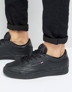 Черные кроссовки Reebok Club C-Черный