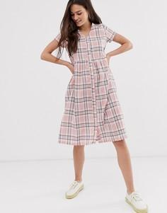 Платье миди в клетку Daisy Street-Розовый