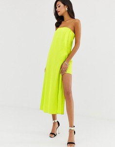 Платье-бандо ASOS DESIGN-Зеленый
