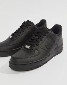 Черные кроссовки Nike Air Force 1 07-Черный