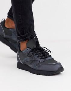 Черные классические кожаные кроссовки Reebok trail edition-Черный