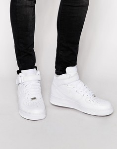 Белые кроссовки Nike Air Force 1 Mid 07-Белый