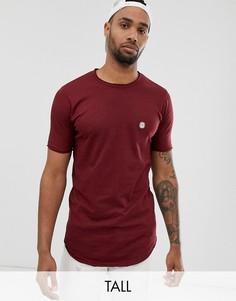 Удлиненная футболка с необработанным краем Le Breve Tall-Красный