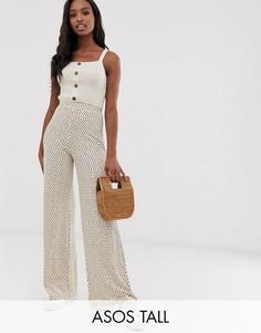 Широкие брюки ASOS DESIGN Tall-Мульти