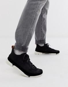 Черные замшевые кроссовки Clarks Originals Trigenic Flex-Черный