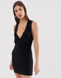 Платье с поясом Love-Черный