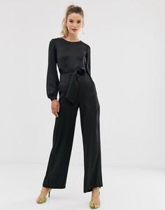 Комбинезон с пышными рукавами Closet-Черный