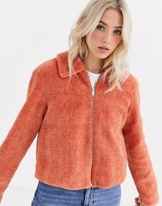 Куртка из мягкого искусственного меха JDY-Бежевый