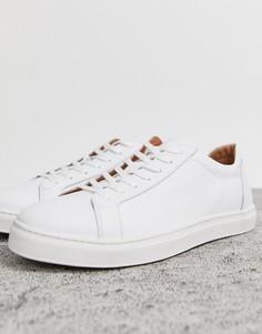 Белые кожаные премиум-кроссовки Selected Homme-Белый