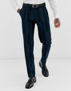 Облегающие брюки с блочным геометрическим узором Harry Brown-Зеленый