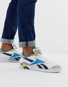 Белые кроссовки со вставками Reebok classic club c-Белый