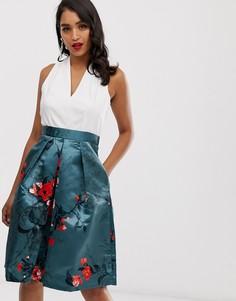 Платье 2 в 1 с халтером Closet-Зеленый