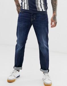 Темные суженные джинсы классического кроя Diesel Larkee-Beex 082AY-Синий