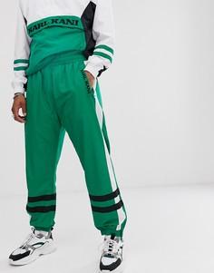 Зеленые спортивные штаны в стиле ретро с полосками Karl Kani-Зеленый